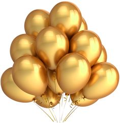 Transparent Gold Balloons Clipart