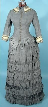 1881 Bustle Gown {Antique Dress} | Simple, but elegant with a bit of an elaborate bustle.