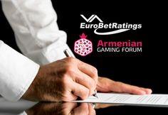 Букмекер EuroBetRatings заключил партнерское соглашение с Armenian Gaming Forum.  Букмекерский портал EuroBetRatings окажет поддержку предстоящему отраслевому событию — Игорный форум Армении. На бейджах участников этого мероприятия будет логотип бренда EuroBetRatings.