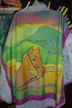 Silk shawl, peaceful pony
