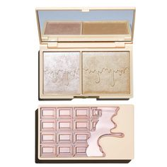 A dreamy highlighter duo with two silky shades to compliment all skin tones. Revolution Highlighter, Makeup Revolution Palette, I Heart Makeup, Rose Gold Makeup, Chocolate Palette, Rose Gold Aesthetic, Drugstore Makeup Dupes, Beauty Dupes, Huda Beauty
