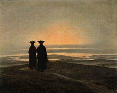 Caspar David Friedrich - Paysage nocturne avec deux hommes