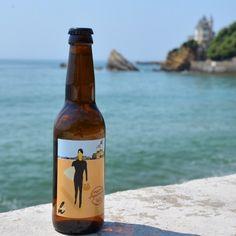 Bière blonde Hapchot 33 cl brassée à Hossegor, Edition Collector 140 ans Maison Arostéguy, spécialement dessinée par l'artiste espagnol Dani Wilde