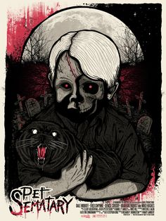 Horror Movie Poster Art : Pet Sematary, by Matt Ryan Tobin Pet Sematary, Horror Movie Posters, Movie Poster Art, Film Posters, Cinema Posters, Alien 1979, Stephen King Movies, Stephen Kings, Bon Film