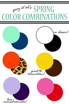 color combinations :: spring.  color combinations for spring outfits.  spring outfit color combinations.