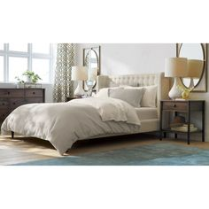 Gia Upholstered Queen Bed | Crate and Barrel