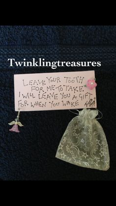 Tooth fairy plaque