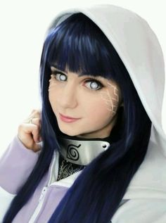 Hinata, Naruto cosplay. pretty good, love the contacts, they are perfect.