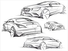@Chatterworks ♡❤ #Cars ❥ Mark Fetherston's design sketches of the Mercedes-Benz CLA-Class compact four-door coupé  via @CarDesignNews cc @MBUSA