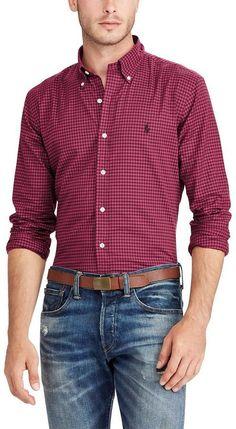 Polo Ralph Lauren Big & Tall Check Twill Long-Sleeve Woven Shirt