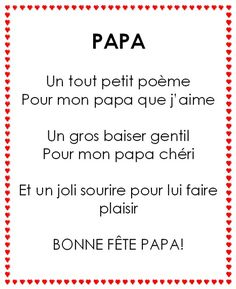 F te des meres et des peres on pinterest bricolage mother 39 s day and fathers day cards - Poesie fete des peres ...