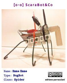 Emme Emme - BugBot #tinkering Diy Robot, Robots, Upcycling, Robotics, Robot