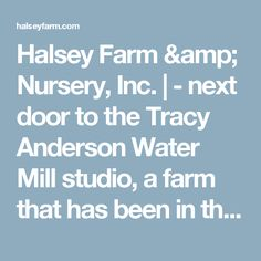 Halsey Farm & Nursery, Inc. | - next door to the Tracy Anderson Water Mill studio, a farm that has been in the same family since 1644 who produce great organic veggies.  To watch the seals play in the ocean by Montauk Lighthouse in the winter and spring season is pretty amazing and to walk the walking dunes in Amagansett is unique too. To sit on Long Beach in Sag Harbor or any of the ocean beaches during an autumn and winter sunset and watch the sky turn pink and purple is one of the most br