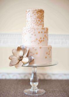 Gold confetti cake