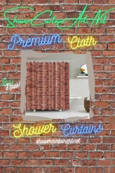 Bring a bit of country charm to your shower decor with our rustic fabric shower curtains!
