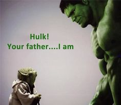 I knew it!!! #starwars #yoda #hulk #avengers #comicbook #marvel