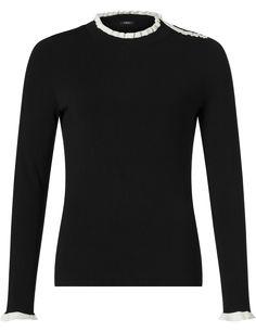 Purdey gebreide pullover zwart