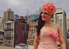 We salute spring in the city by donning our floral cocktail hats! Cocktail Hat, Playing Dress Up, Strapless Dress, Nyc, City, Spring, Floral, Tops, Dresses
