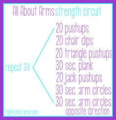 30 Day Arm Workout Women | ... workout for you guys to try out! Here's the elliptical | http://howtobehealthyguide.blogspot.com