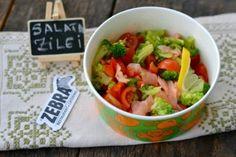 Salata cu somon afumat si broccoli