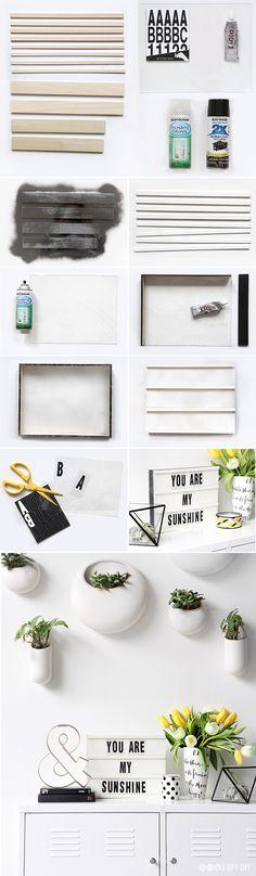 DIY – Faça Você Mesmo - Como Fazer Caixa De Luz Troca Letras