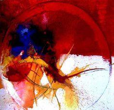 """Dance 3,"" original abstract painting by artist  abdel aziz lourhraz (Morocco) available at Saatchi Art #SaatchiArt"