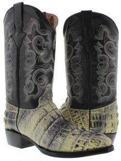 b3e85c3dcd46 Mens J Toe Alligator Crocodile Tail Leather Western Cowboy Boots Exotic  Rodeo