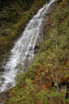 Waterfall up the Silver Skagit Road in Hope, BC. Photo by Darlene Butterfield Boucher. www.HopeBC.ca