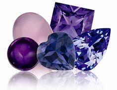 Natures purple gemstones