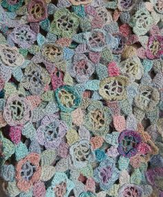 """Sophie Digard crochet - """"Witchcraft"""" small linen scarf"""