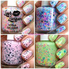 varied treasures: Lush  #nailpolish #nails #glitter #sparkle #handmade #nailart #polish #varnish #pretty #girly #cute #love #unique #etsy #swag