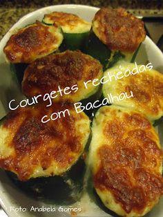 Courgetes recheadas com Bacalhau