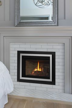 Quickly and easily replace your wood fireplace with a new gas insert. Say goodbye to wood and hello to gas! Gas Fireplace Insert Cost, Ventless Fireplace Insert, Small Gas Fireplace, Gas Fireplace Mantel, Wood Fireplace Inserts, Direct Vent Gas Fireplace, Natural Gas Fireplace, Propane Fireplace, Family Room Fireplace