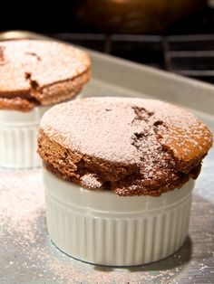 Spiced Chocolate Soufflés for Two by djwtwo + recipe