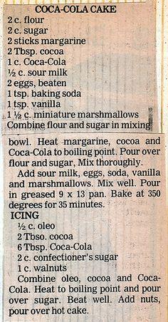 Cake - Coca Cola