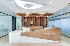 The Canvas Hotel Front Desk Office Reception Design, Modern Reception Desk, Office Table Design, Dental Office Design, Office Furniture Design, Reception Counter Design, Salon Reception Desk, Hotel Reception, Clinic Interior Design