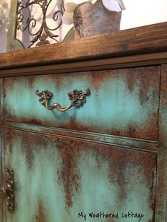 SOLD Farmhouse Rustic Buffet Painted Furniture Media