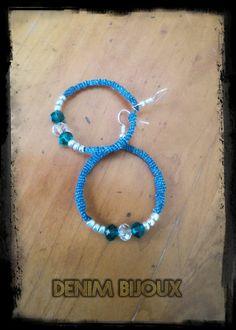 Bijoux en perles et Jeans! Recycler et créer, voici ma recette pour réaliser ces bijoux. Plus d'info sur :  https://www.facebook.com/denimbijoux/