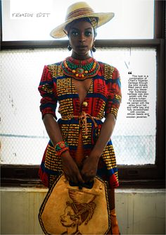 "Mix it up a bit with a few stunning pieces from Queen E. Collection's ""Modern day Nubian"" style shoot"