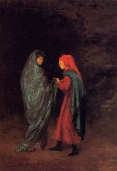 Dante And Virgil At The Entrance To Hell Artwork By Edgar Degas Oil Painting & Art Prints On Canvas For Sale Dante Alighieri, Edgar Degas, Renoir, Lucien Lachance, Canvas Art Prints, Oil On Canvas, Art Ancien, Oil Painting For Sale, Edouard Manet