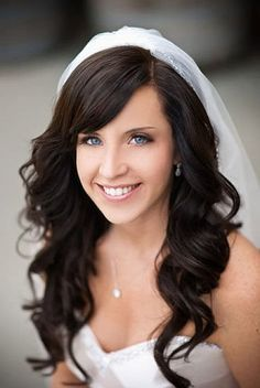 bridal hairstyles with long hair and veil - Google Search