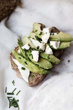 avocado lemon lime white cheese toast