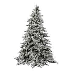 Vickerman 7.5Ft. Flocked White on Green 1650 Tips Christmas Tree