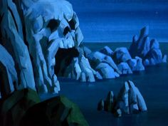 Creepy background art from Scooby Doo