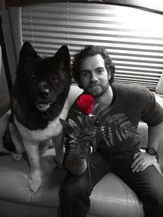 Henry Cavill pic with dog