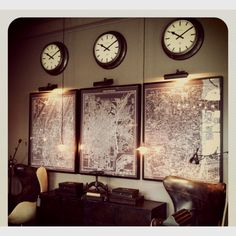 Cool Abstract Wall Art With Clock Love This For A Bachelor Pad Or Largest Home Design Picture Inspirations Pitcheantrous