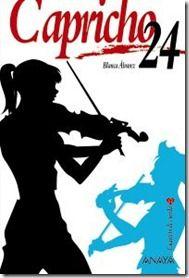 """Capricho 24. Blanca Álvarez. Ed. Anaya. En esta segunda novela de la colección, Carla, la niña bien del grupo y aparentemente tímida, se siente atrapada por la belleza de un grafiti y se enamorará platónicamente del artista que lo ha realizado. Las cuatro componentes del cuarteto de cuerda seguirán compartiendo sus vidas mientras el """"Capricho 24″ de Paganini sonará entre las páginas de la novela y obsesionará a la protagonista. ETIQUETAS:Relaciones humanas/Cuarteto de cuerda. 2"""