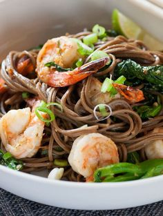 Lemongrass Shrimp with Soba Noodles & Chinese Broccoli from @Blue Apron