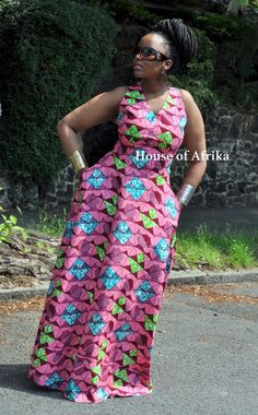 NEW LISTING Tahama skater back dress by HouseofAfrika on Etsy