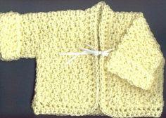 Newborn Sweater free crochet pattern